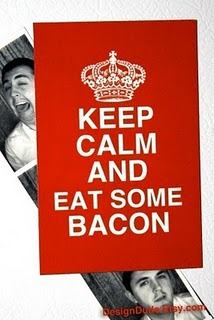 Keep Calm and Eat Some Backon Magnet from DesignDude