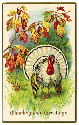 Thanksgiving turkey vintage image graphicsfairy005