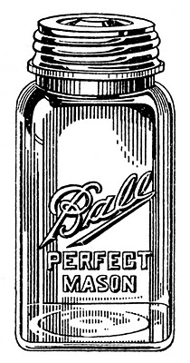 Ball jars vintage image graphicsfairy004c