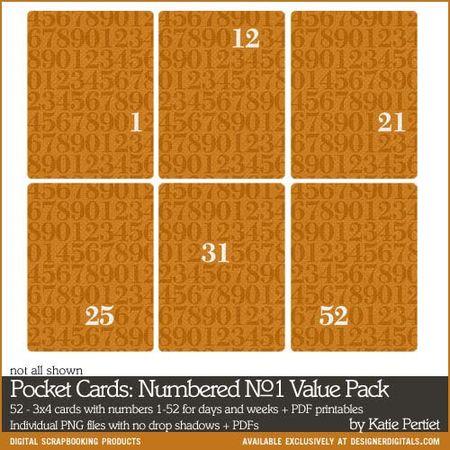 Pocket number cards