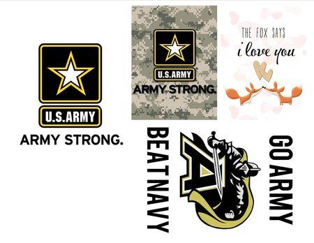 Army plus fox i love you jcard set